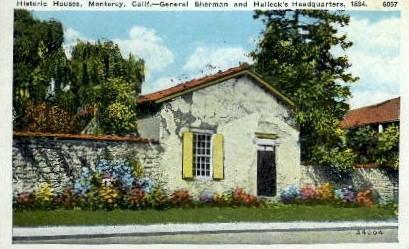 Historic House - Monterey, California CA Postcard