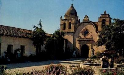 Carmel Mission - Monterey, California CA Postcard