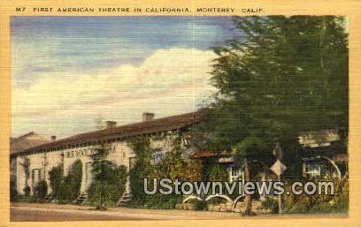 First American Theatre - Monterey, California CA Postcard