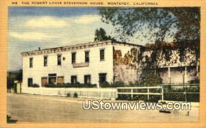 Robert Louis Stevenson House - Monterey, California CA Postcard