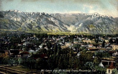 Mt. Lowe and Mt. Wilson - California CA Postcard