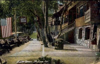 Alpine Tavern - Mt. Lowe, California CA Postcard