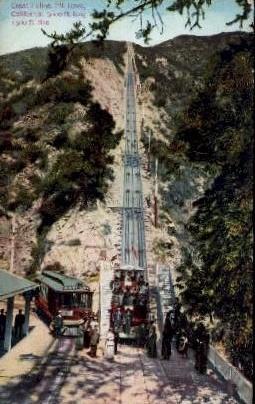 Mt. Lowe Incline - California CA Postcard