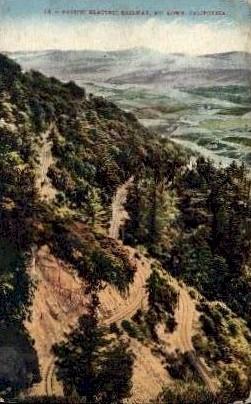 Pacific Electric Railway - Mt. Lowe, California CA Postcard