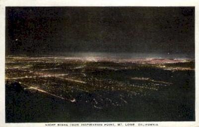 Inspiration Point - Mt. Lowe, California CA Postcard