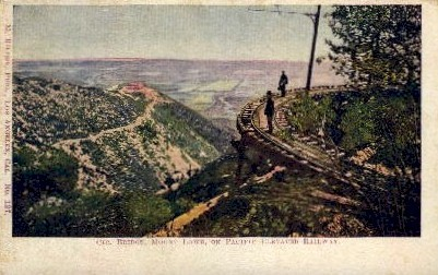 Pacific Elevated Railway - Mt. Lowe, California CA Postcard