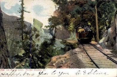 On Mount Lowe - Mt. Lowe, California CA Postcard