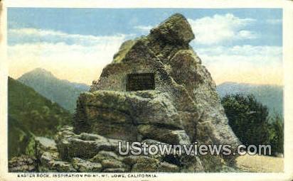 Easter Rock - Mt. Lowe, California CA Postcard