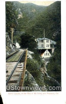 Ruhio Canyon - Mt. Lowe, California CA Postcard