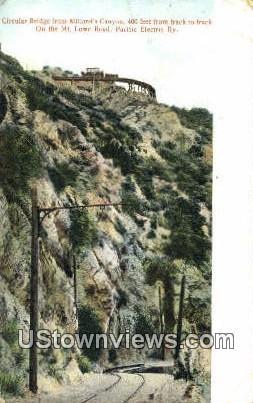 Circula Bridge, Millard's Canyon - Mt. Lowe, California CA Postcard