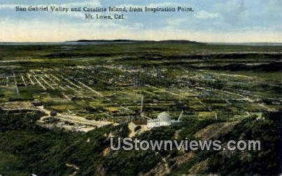 San Gabriel Valley - Mt. Lowe, California CA Postcard
