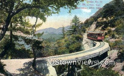Bridge No. 15 - Mt. Lowe, California CA Postcard