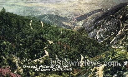 Millard's Canyon - Mt. Lowe, California CA Postcard
