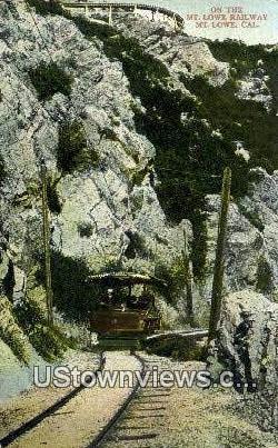 Mt. Lowe Railway - California CA Postcard