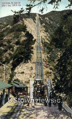 Great Incline - Mt. Lowe, California CA Postcard
