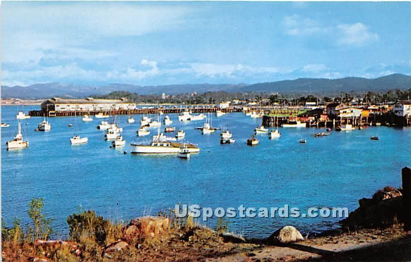 Fishing Boats & Wharf - Monterey, California CA Postcard