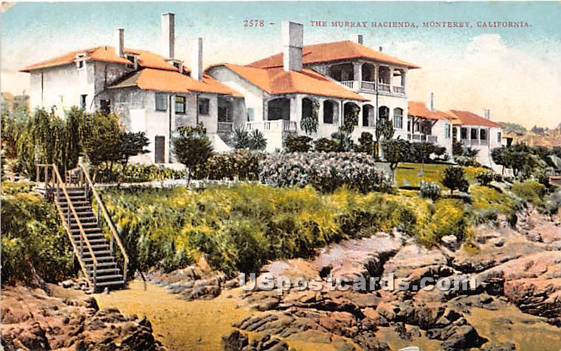 Murray Hacienda - Monterey, California CA Postcard