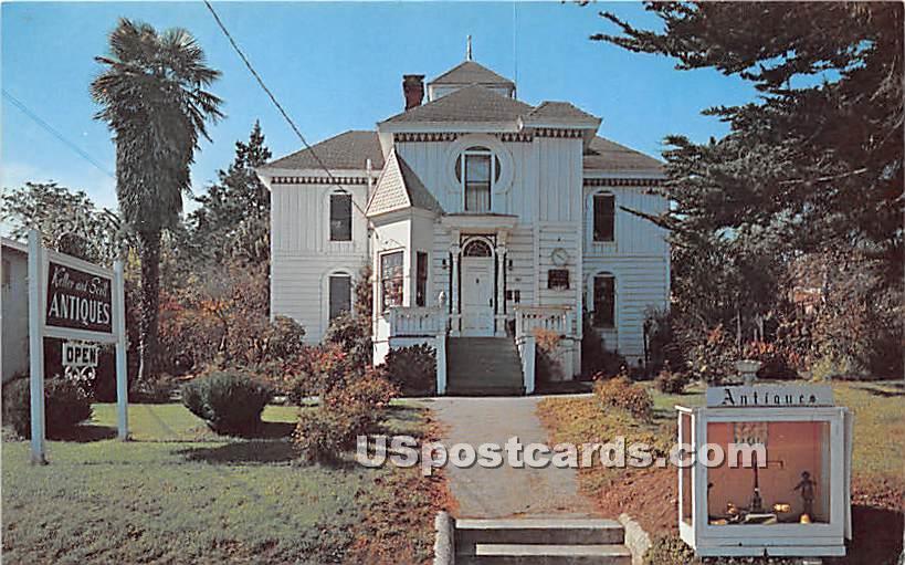 Keller & Scott Antiques - Monterey, California CA Postcard
