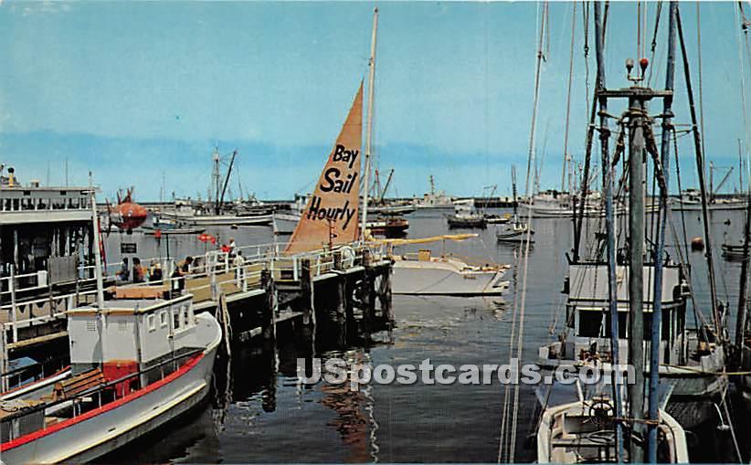 Harbor - Monterey, California CA Postcard