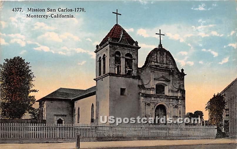 Mission San Carlos 1770 - Monterey, California CA Postcard
