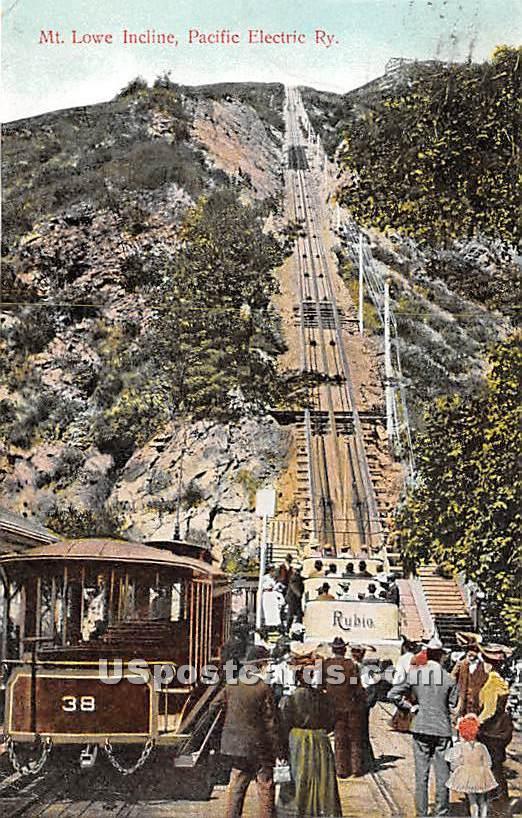 Mt Lowe Incline - Mt. Lowe, California CA Postcard