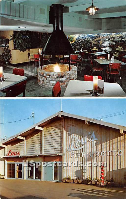 Lou's Fish Grotto - Monterey, California CA Postcard