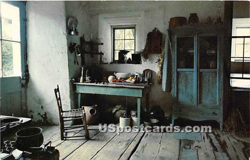 Stevenson House, Kitchen - Monterey, California CA Postcard