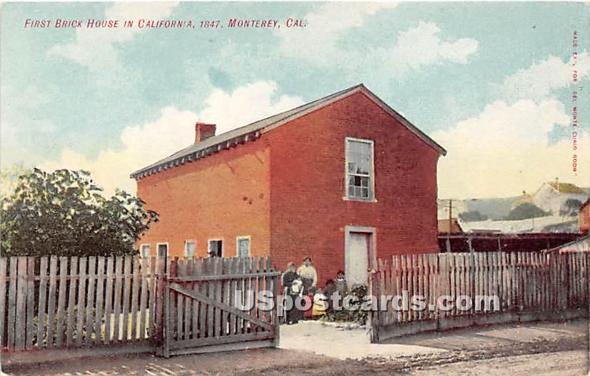 First Brick House 1847 - Monterey, California CA Postcard