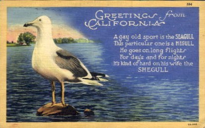 Greetings from California - MIsc Postcard