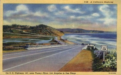 A California Highway - MIsc Postcard