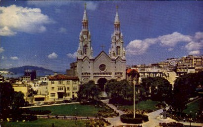 SS. Peter and Paul's Church - MIsc, California CA Postcard