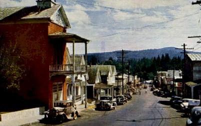 Broad Street - Nevada City, California CA Postcard