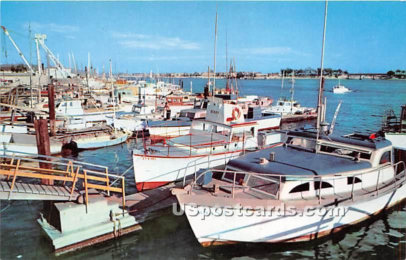 Pleasure Craft - Newport Harbor, California CA Postcard