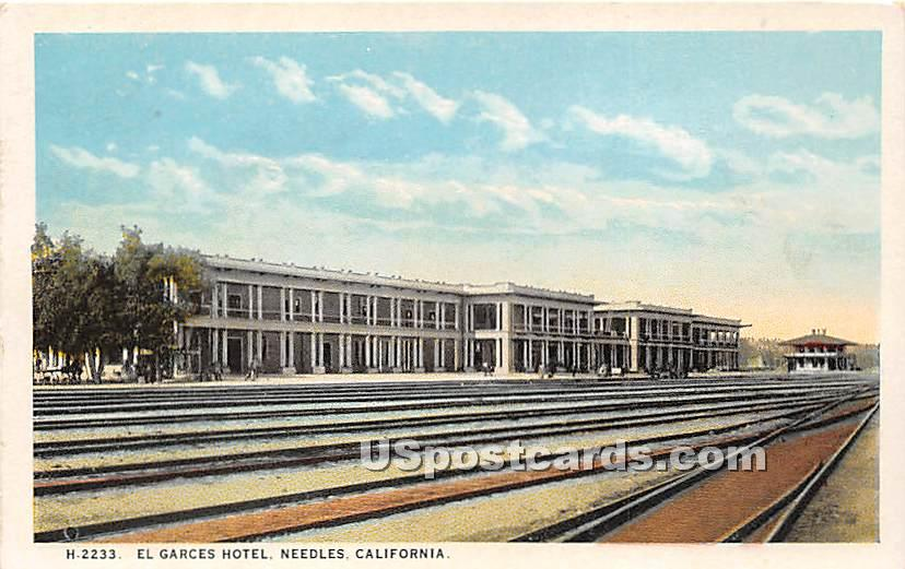 El Garces Hotel - Needles, California CA Postcard