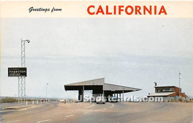 Inspection Station - Needles, California CA Postcard