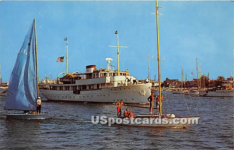 Newport Harbor, California CA Postcard