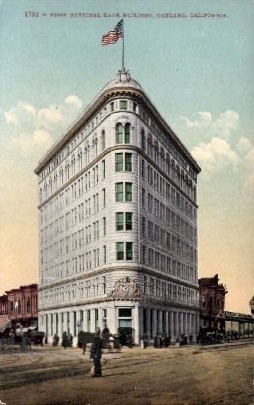 First National Bank Building - Oakland, California CA Postcard