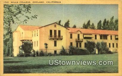Mills College - Oakland, California CA Postcard