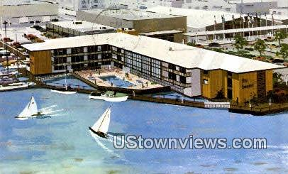 Boatel Motor Lodge - Oakland, California CA Postcard
