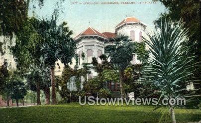 Schilling Residence - Oakland, California CA Postcard