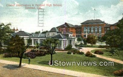 Chabot Observatory - Oakland, California CA Postcard