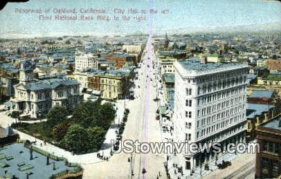 City Hall, First National Bank Bldg - Oakland, California CA Postcard