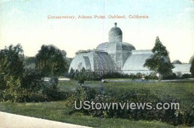 Conservatory, Adams Point - Oakland, California CA Postcard