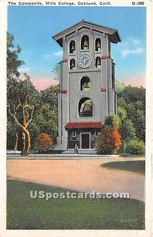 The Campanile, Mills College - Oakland, California CA Postcard