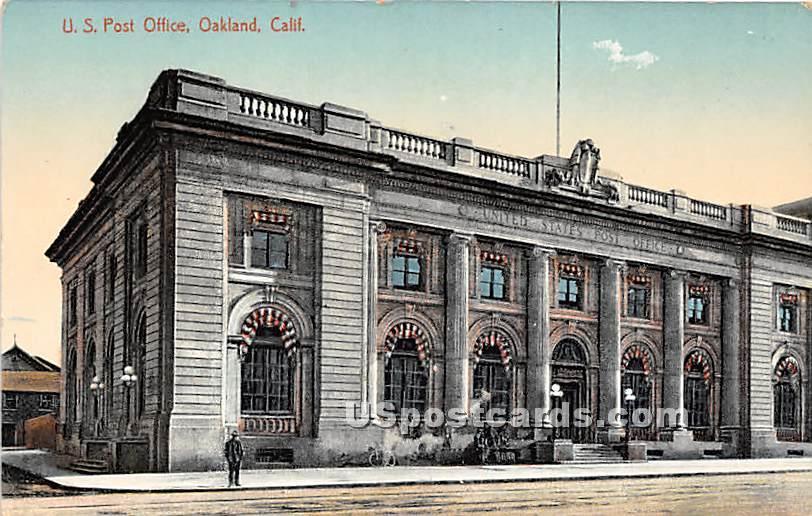 US Post Office - Oakland, California CA Postcard