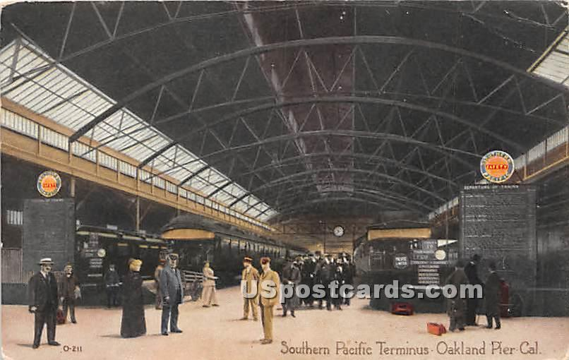 Southern Pacific Terminus - Oakland, California CA Postcard