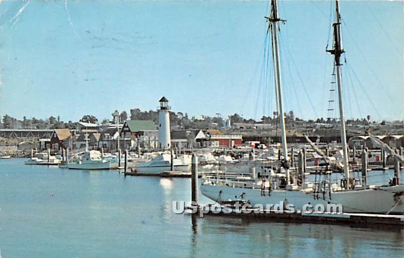 The Marina - Oceanside, California CA Postcard