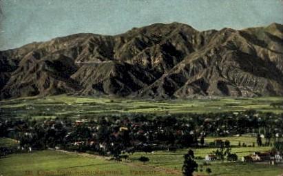Mt. Lowe from Hotel Raymond - Pasadena, California CA Postcard