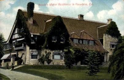 Busch's Winter Residence - Pasadena, California CA Postcard