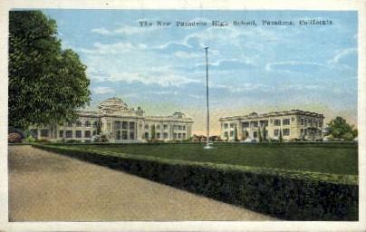 The New Pasadena High School - California CA Postcard